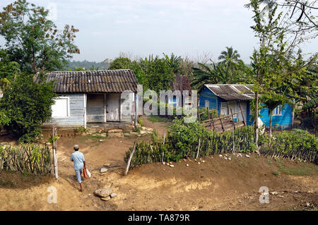 Pinar del Rio, Cuba-April 14, 2018: A small settlement at rural area near Pinar del Rio at Cuba - Stock Image