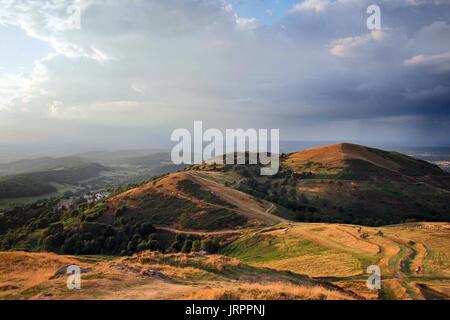 Malvern Hills in Great Malvern in Worcestershire, Herefordshire, England United Kingdom UK Great Britain - Stock Image