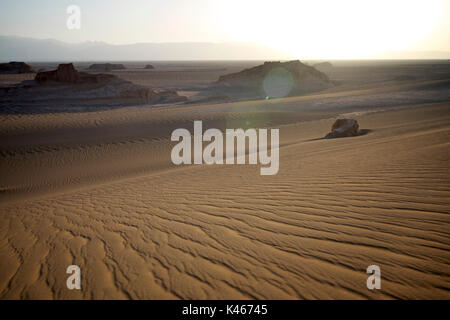 The Kaluts region of the Lut desert. The hottest place on earth. Iran - Stock Image