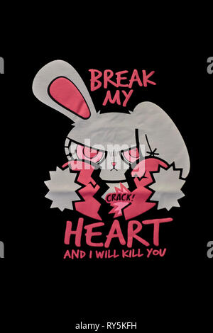 T-Shirt illustration. T-shirt art - Stock Image