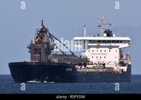Self-Discharging Bulk Carrier OC Pepel - Stock Image