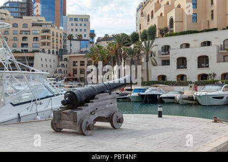 Portomaso Marina, St Julians, Malta - Stock Image