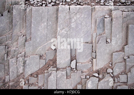 Natural rock stone patterns in Brecon Beacons Wales UK - Stock Image