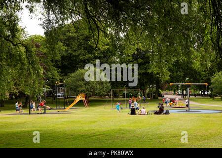 UK, England, Yorkshire, Filey, Glen Gardens, children's play area - Stock Image