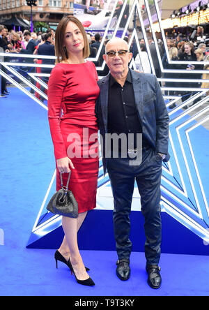 Bernie Taupin and Heather Lynn Hodgins Kidd attending the Rocketman UK Premiere, at the Odeon Luxe, Leicester Square, London. - Stock Image