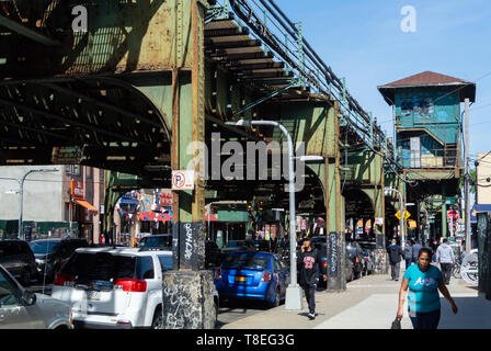 103rd Street Corona Plaza Subway Station, Queens, New York, united states of america, usa - Stock Image