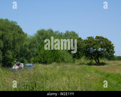 River Thames, The Ridgeway, Ancient Road, Nr, Little Stoke, Passing Threw Oxfordshire Countryside, Oxfordshire, England, UK, GB. - Stock Image