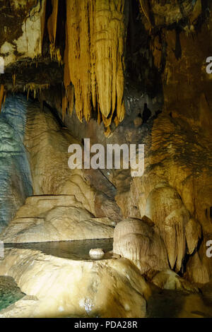 The Su Mannau cave is located in the territory of the municipality of Fluminimaggiore in southern Sardinia. - Stock Image