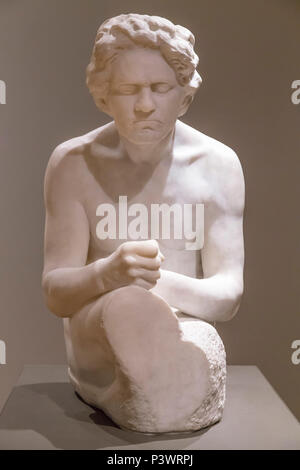 Figure of Beethoven, Max Klinger, after 1902, Museum of Fine Arts, Boston, Mass, USA, North America - Stock Image