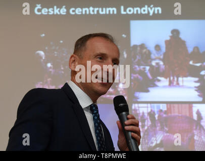 Czech Republic. 14th May, 2019. Premysl Pela (photo) and Miroslav Konvalina will be the new heads of the Czech centres (CC) in London and New York, CC general director Ondrej Cerny told journalists. Adding that they will take up the posts in the spring. Pela worked in the civil service, the academia and the private sector. At present, he works in the CC headquarters in Prague, where he is responsible for the Czech Innovation Expo presentation project.In the past, he held the post of director of the New York Czech Centre. Konvalina is a former Czech Radio reporter in the USA. Credit: CTK/Alamy  - Stock Image