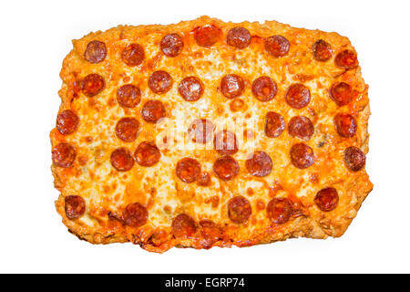 Picture of a big homemade pepperoni pizza - Stock Image