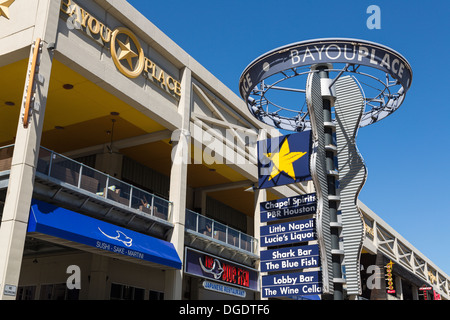 Shops at Bayou Place Houston Texas USA - Stock Image