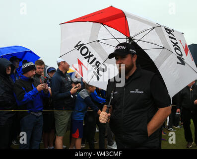 19th July, Portrush, Country Antrim, Northern Ireland; The 148th Open Golf Championship, Royal Portrush, Round Two ; Shane Lowry (IRE) walks from the 13th tee - Stock Image