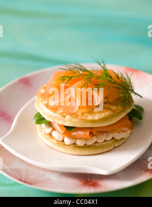 Trout Blinis - Stock Image