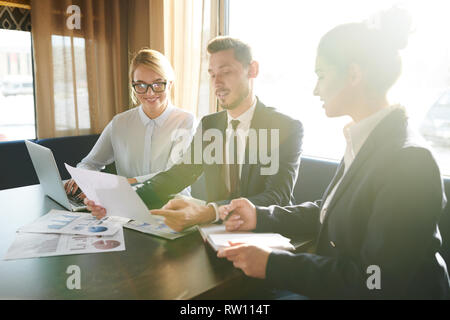 Meeting of brokers - Stock Image
