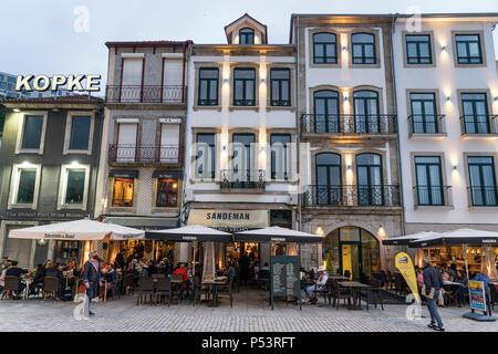 Sandeman restaurant, Kopke wine house, Av. de Diogo Leite, Ribera de Gaia,  Porto, Portugal Porto, Portugal - Stock Image