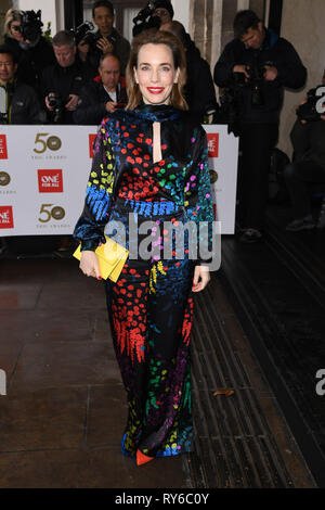 London, UK. 12th Mar, 2019. LONDON, UK. March 12, 2019: Laura Maine arriving for the TRIC Awards 2019 at the Grosvenor House Hotel, London. Picture: Steve Vas/Featureflash Credit: Paul Smith/Alamy Live News - Stock Image