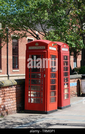Telephone box in Southport Merseyside - Stock Image