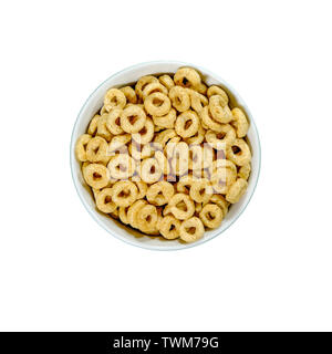 Bowl Of Nestle Whole Grain Cheerios Breakfast Cereals With Honey With No People - Stock Image