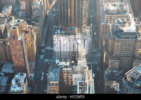 Aerial View Of City - Stock Image
