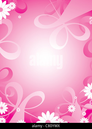 decorative background with flowers - Stock Image