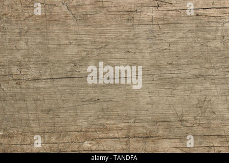Texture of the old weathered knotty board - Stock Image