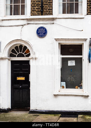 Charles Dickens House in Cleveland Street Central London - Dickens lived here as a young man, between 1815-16 and 1828-31. - Stock Image