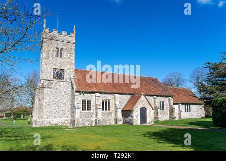 St Lawrence church in Stratford sub Castle near Salisbury UK - Stock Image