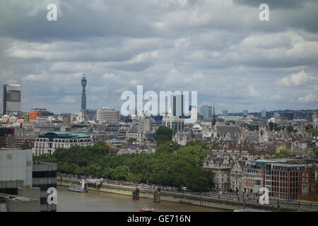 View From Switch House at the Tate Modern, Bankside, London, UK - Stock Image