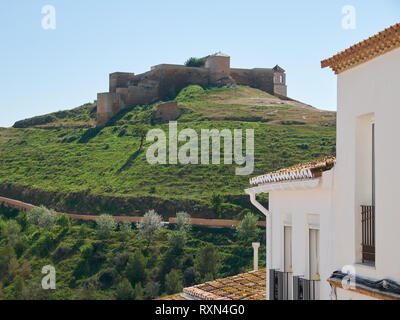 Castle of Álora. Málaga province, Andalusia, Spain. - Stock Image