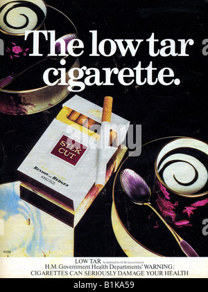 1978 Magazine Advert for Silk Cut Cigarettes the Low Tar Cigarette 1970s FOR EDITORIAL USE ONLY - Stock Image