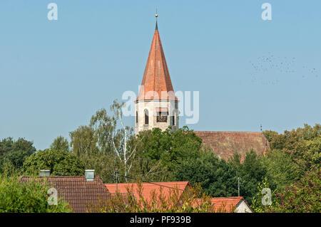 Christuskirche in Kirchrimbach, Bavaria, Germany - Stock Image