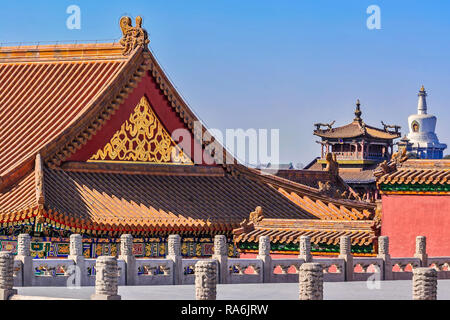 Forbidden City Skyline beijing China - Stock Image