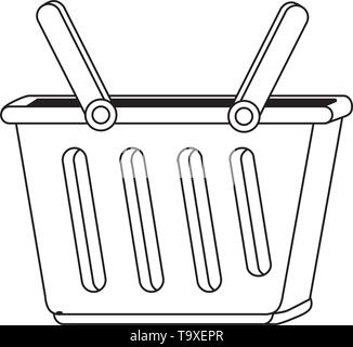 Shopping basket design, Commerce market store retail paying and buying theme Vector illustration - Stock Image
