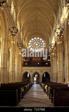 interior of Cathedral Church of Our Lady & St Philip Howard,  Arundel, West Sussex, England - Stock Image