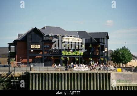 Spice Island, River Thames, London - Stock Image