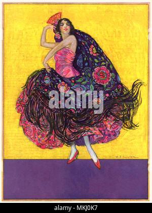 Flamenco Dancer - Stock Image