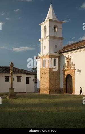 Iglesia del Carmen, Villa de Leyva, Boyacá, Colombia - Stock Image