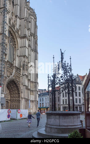 Typical Buildings Antwerpen, Belgium - Stock Image