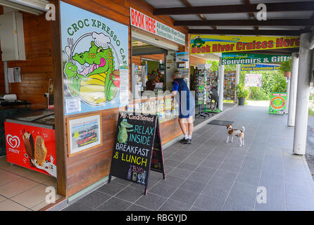 River cruises booking office in Daintree Village, Far North Queensland, FNQ, QLD, Australia - Stock Image