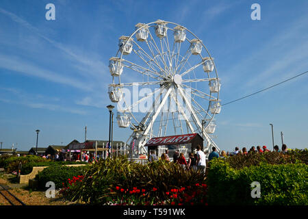 New ferris wheel on Hastings Seafront, Hastings, East Sussex, UK - Stock Image