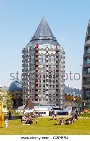 The pencil, Rotterdam, Holland, 2016 - Stock Image