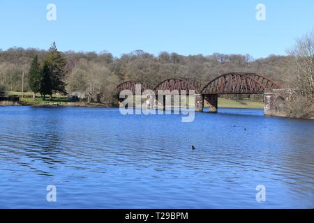 Kirkcudbrightshire, UK. 31st Mar, 2019. 31st, March, 2018. A bright sunny day at Loch Ken Viaduct, Kirkcudbrightshire, Dumfries and Galloway, Scotland, UK. Credit: Douglas Carr/Alamy Live News - Stock Image