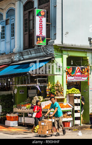 Buffalo Road, Little India, Singapore - Stock Image