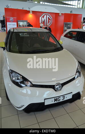 MG3 at car sales centre, MG, Longbridge, Birmingham. - Stock Image