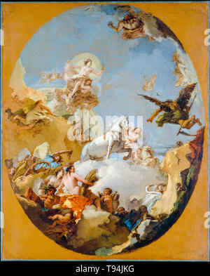The Chariot of Aurora, painting by Giovanni Battista Tiepolo, c. 1760s - Stock Image