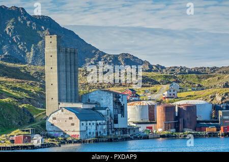 Industrial Site, Honningsvag, Norway - Stock Image