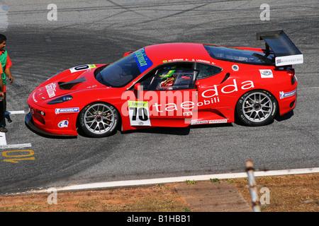 Ferrari F430, GT3 Brazilian Racing Cup, Nelson Piquet Autodrome, Brasilia, Brazil, South America - Stock Image