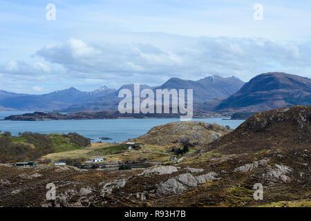 View across Loch Torridon, Applecross Peninsula, Wester Ross, Highland Region, Scotland - Stock Image