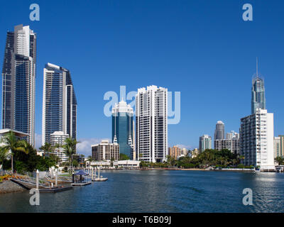 City View Of Surfers Paradise On The Gold Coast - Stock Image
